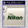 Team Nikon D1 Decal Sticker Dark Green Vinyl 120x120