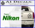 Team Nikon D1 Decal Sticker Green Vinyl 120x97