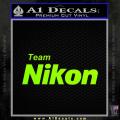 Team Nikon D1 Decal Sticker Neon Green Vinyl 120x120
