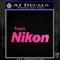 Team Nikon D1 Decal Sticker Neon Pink Vinyl 120x120