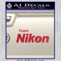 Team Nikon D1 Decal Sticker Red Vinyl 120x120