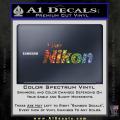 Team Nikon D1 Decal Sticker Spectrum Vinyl 120x120