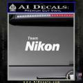 Team Nikon D1 Decal Sticker White Vinyl 120x120