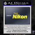 Team Nikon D1 Decal Sticker Yellow Vinyl 120x120