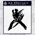 Tekken Video Game Jin Tag Decal Sticker Black D1 Vinyl 120x120