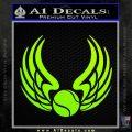 Tennis Decal Sticker Wings Neon Green Vinyl Black 120x120