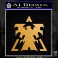 Terran Logo Starcraft Zerg D1 Decal Sticker Gold Metallic Vinyl 120x120