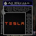 Tesla Logo Wide Decal Sticker Orange Emblem 120x120