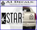 The Flash Star Labs Decal Sticker NEW black 120x97