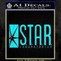 The Flash Star Labs Decal Sticker NEW light blue 120x120