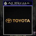 Toyota Decal Sticker Wide Gold Metallic Vinyl 120x120