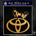 Toyota Sexy Decal Sticker D3 Gold Metallic Vinyl 120x120