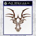 Tribal Dragon Head Decal Sticker D1 BROWN Vinyl 120x120