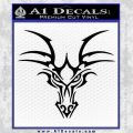 Tribal Dragon Head Decal Sticker D1 Black Vinyl 120x120