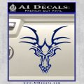 Tribal Dragon Head Decal Sticker D1 Blue Vinyl 120x120