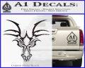 Tribal Dragon Head Decal Sticker D1 Carbon FIber Black Vinyl 120x97