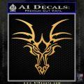 Tribal Dragon Head Decal Sticker D1 Gold Vinyl 120x120