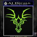 Tribal Dragon Head Decal Sticker D1 Lime Green Vinyl 120x120