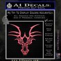 Tribal Dragon Head Decal Sticker D1 Pink Emblem 120x120
