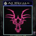 Tribal Dragon Head Decal Sticker D1 Pink Hot Vinyl 120x120