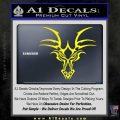 Tribal Dragon Head Decal Sticker D1 Yellow Laptop 120x120