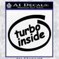 Turbo Boost Inside Decal Sticker Black Vinyl 120x120