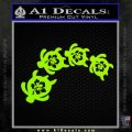 Turtle Family Hisbiscus Decal Sticker Lime Green Vinyl 120x120