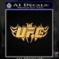 UFC New Tribal Decal Sticker Gold Vinyl 120x120