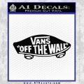 Vans Off The Wall Skate Decal Sticker Black Vinyl 120x120
