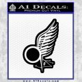 Viper Pilot Wing Caprica Decal Sticker Battlestar Galactica BSG Black Vinyl 120x120