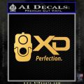 XD Firearms Perfection Decal Sticker Gold Vinyl 120x120
