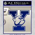 Yale Bulldogs Decal Sticker DY Blue Vinyl 120x120