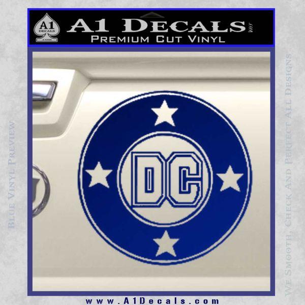 DC Comics Decal Sticker CR Blue Vinyl