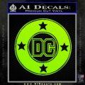DC Comics Decal Sticker CR Lime Green Vinyl 120x120