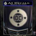 DC Comics Decal Sticker CR Metallic Silver Emblem 120x120