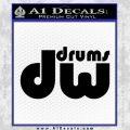 DW Drums Decal Sticker Black Vinyl 120x120
