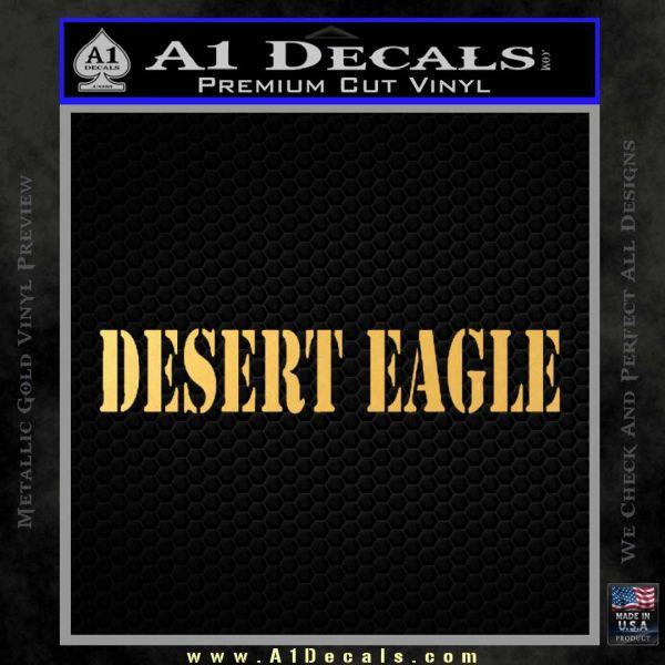 Desert Eagle Firearms Decal Sticker Gold Vinyl