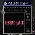 Desert Eagle Firearms Decal Sticker Pink Emblem 120x120