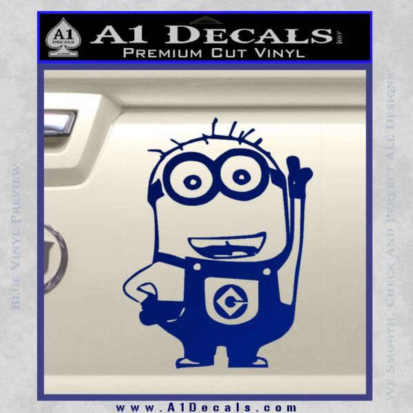 Despicable Me D13 Hand Point Up Decal Sticker 19