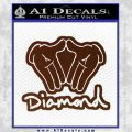 Diamond Hands D2 Decal Sticker BROWN Vinyl 120x120