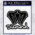 Diamond Hands D2 Decal Sticker Black Vinyl 120x120