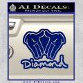 Diamond Hands D2 Decal Sticker Blue Vinyl 120x120