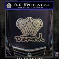 Diamond Hands D2 Decal Sticker Carbon FIber Chrome Vinyl 120x120