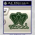 Diamond Hands D2 Decal Sticker Dark Green Vinyl 120x120