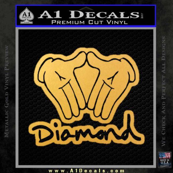 Diamond Hands D2 Decal Sticker Gold Vinyl