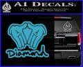 Diamond Hands D2 Decal Sticker Light Blue Vinyl 120x97