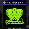Diamond Hands D2 Decal Sticker Lime Green Vinyl 120x120