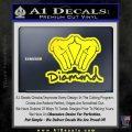 Diamond Hands D2 Decal Sticker Yellow Laptop 120x120