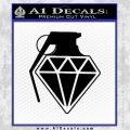Diamond JDM Grenade D1 Decal Sticker Black Vinyl 120x120