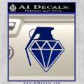 Diamond JDM Grenade D1 Decal Sticker Blue Vinyl 120x120